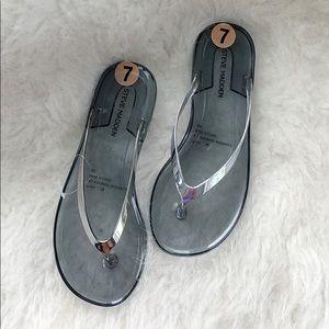 NWT Steve Madden clear sandals